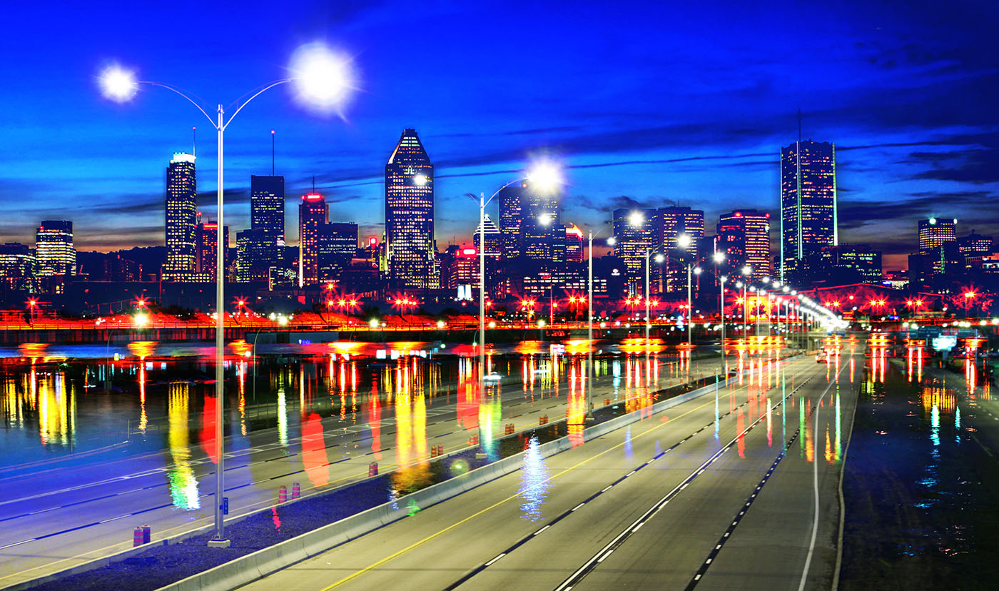 Montreal City Urban Montage 07 - Royalty-Free Stock Imagery