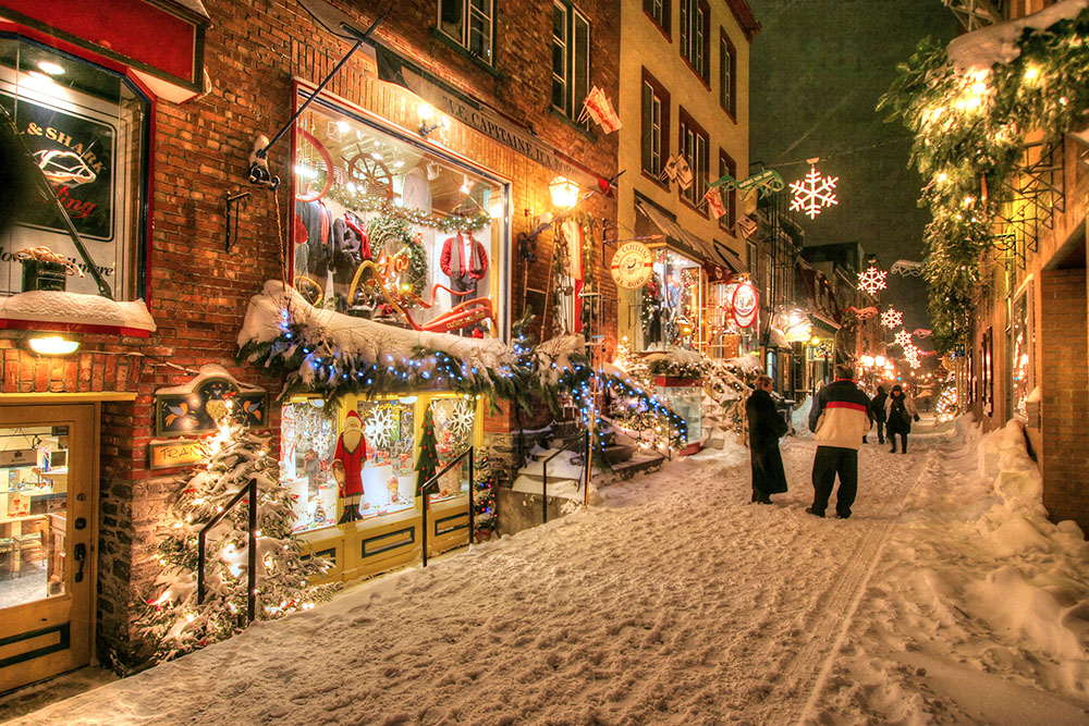 Old Quebec City District Alley - Royalty-Free Stock Imagery