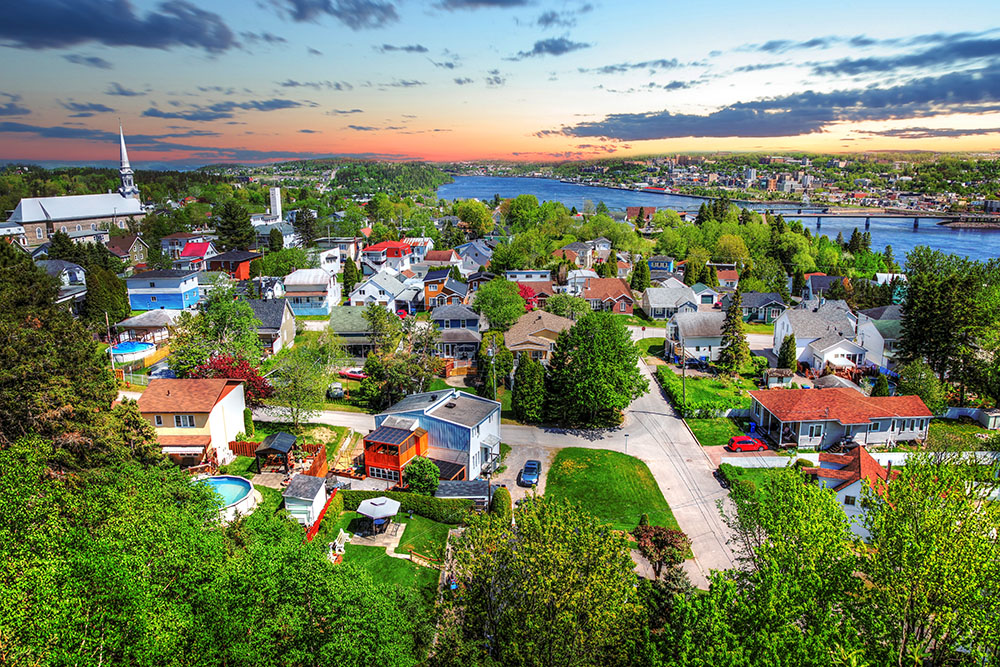 Saguenay City - Royalty-Free Stock Imagery