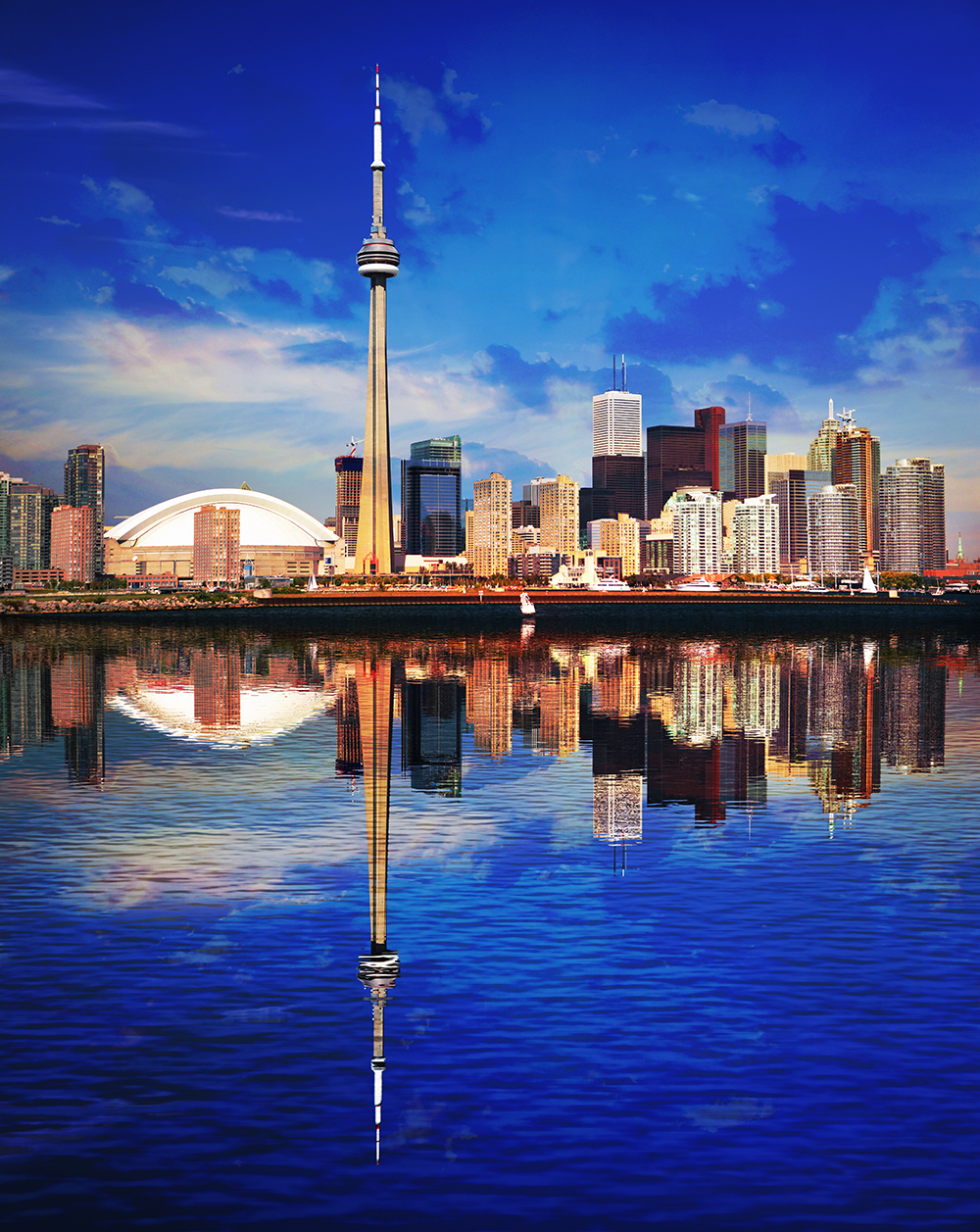 Toronto Water Reflection 01 - Royalty-Free Stock Imagery