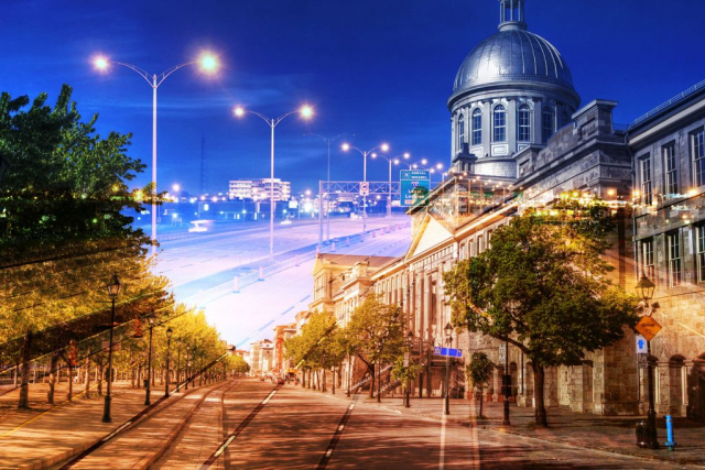 Bonsecour Market in Montreal - Royalty-Free Stock Imagery