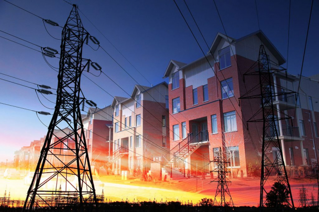 Domestic Energy Lines Photo Montage - Royalty-Free Stock Imagery