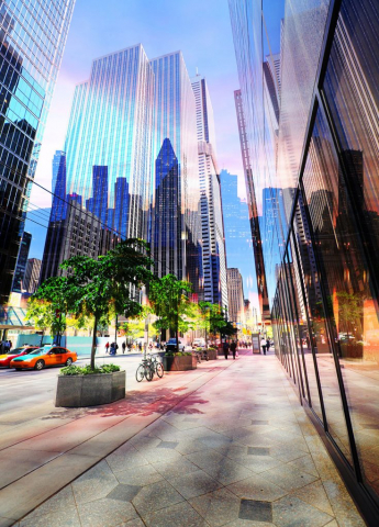Downtown Office Street 3 - Royalty-Free Stock Imagery