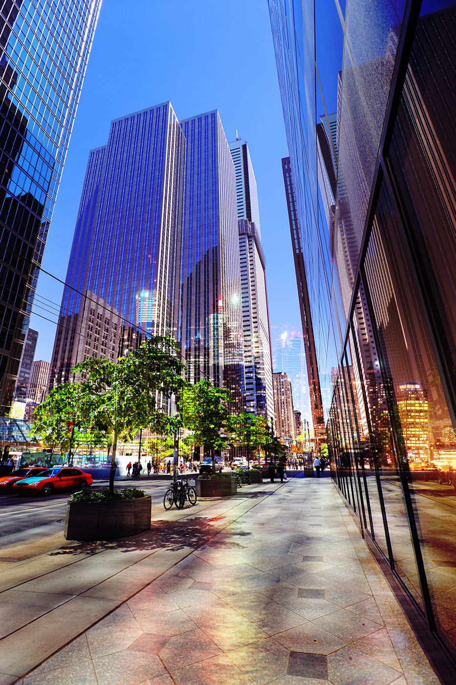 Downtown Office Street 4 - Royalty-Free Stock Imagery