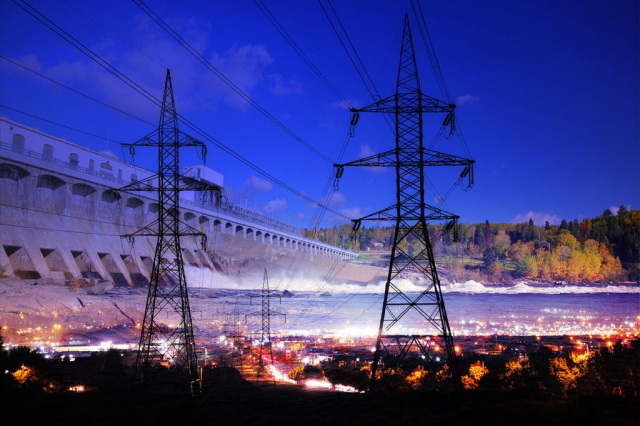 Electric Dam 01 - Royalty-Free Stock Imagery