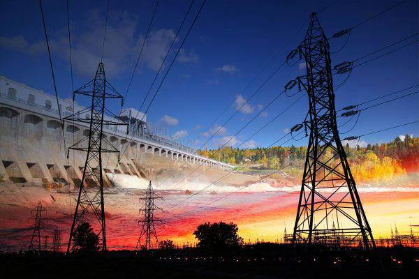 Electric Dam 02 - Stock Image
