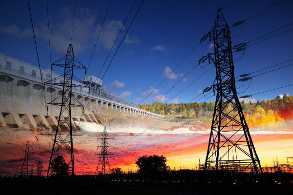 Electric Dam 02 - Stock Image