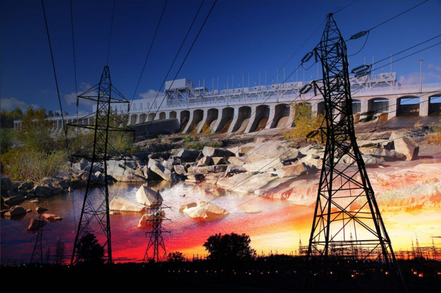Electric Dam 03 - Royalty-Free Stock Imagery