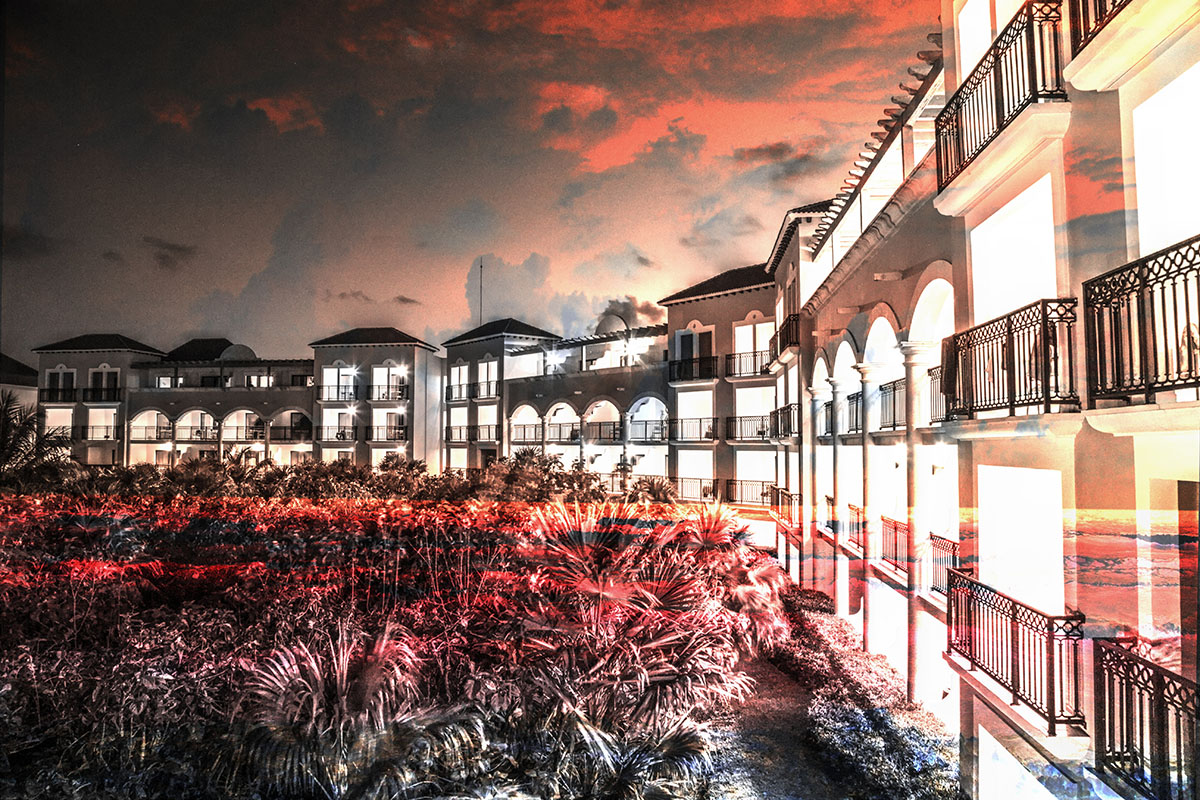 Hotel Resort Photo Montage 02 - Royalty-Free Stock Imagery
