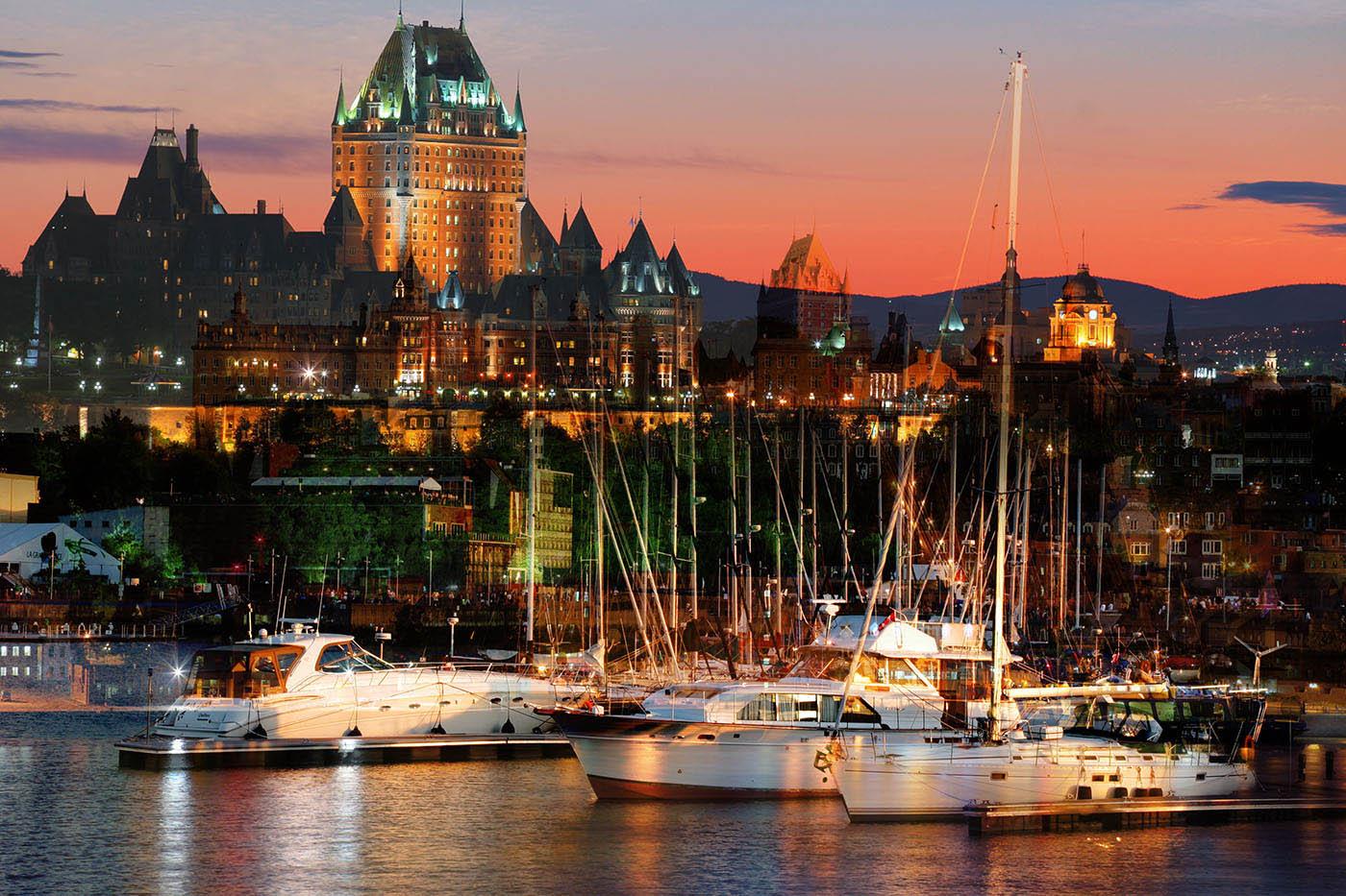 Quebec City Marina - Royalty-Free Stock Imagery