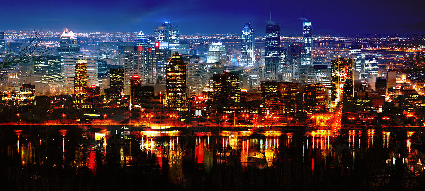 Montreal City in Double - Royalty-Free Stock Imagery