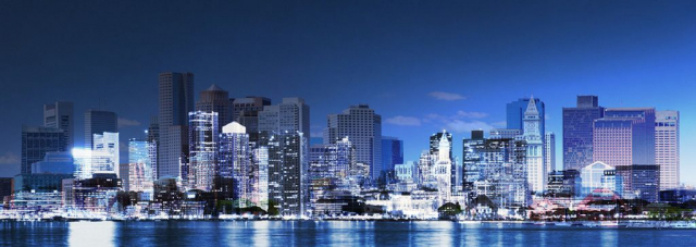 Panoramic Boston City Photo Montage - Royalty-Free Stock Imagery