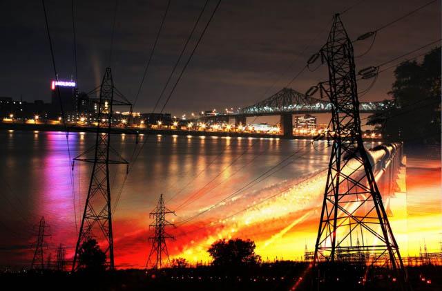 Urban Electrification - Royalty-Free Stock Imagery