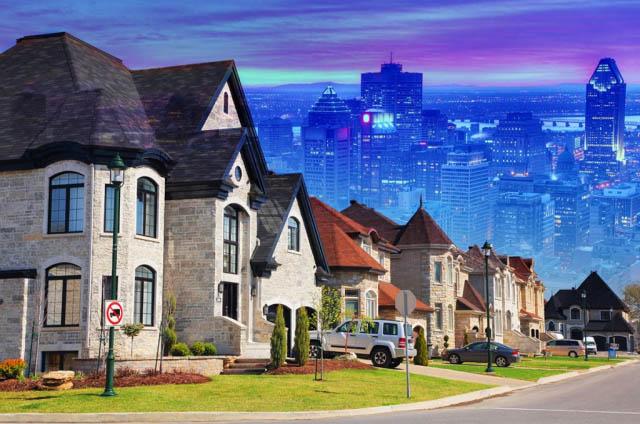 Urban Sprawl Photo Montage - Royalty-Free Stock Imagery