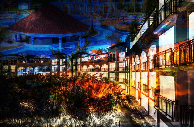 Caribbean Hotel Photo Montage - Royalty-Free Stock Imagery