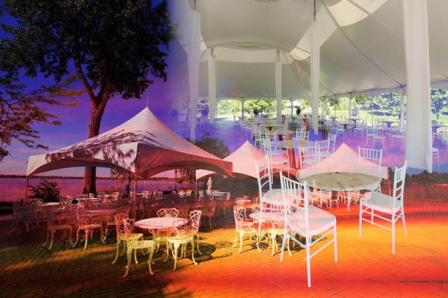Celebration Tent Photo Montage - Royalty-Free Stock Imagery