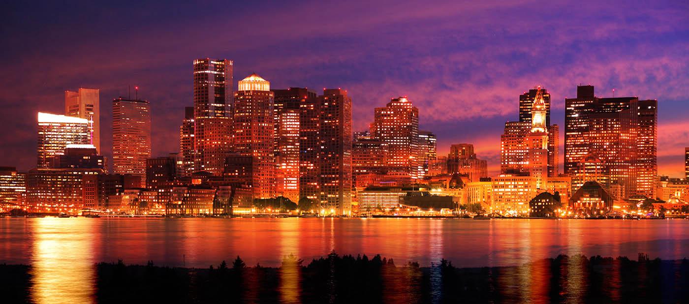 Downtown Boston Skyline - Royalty-Free Stock Imagery