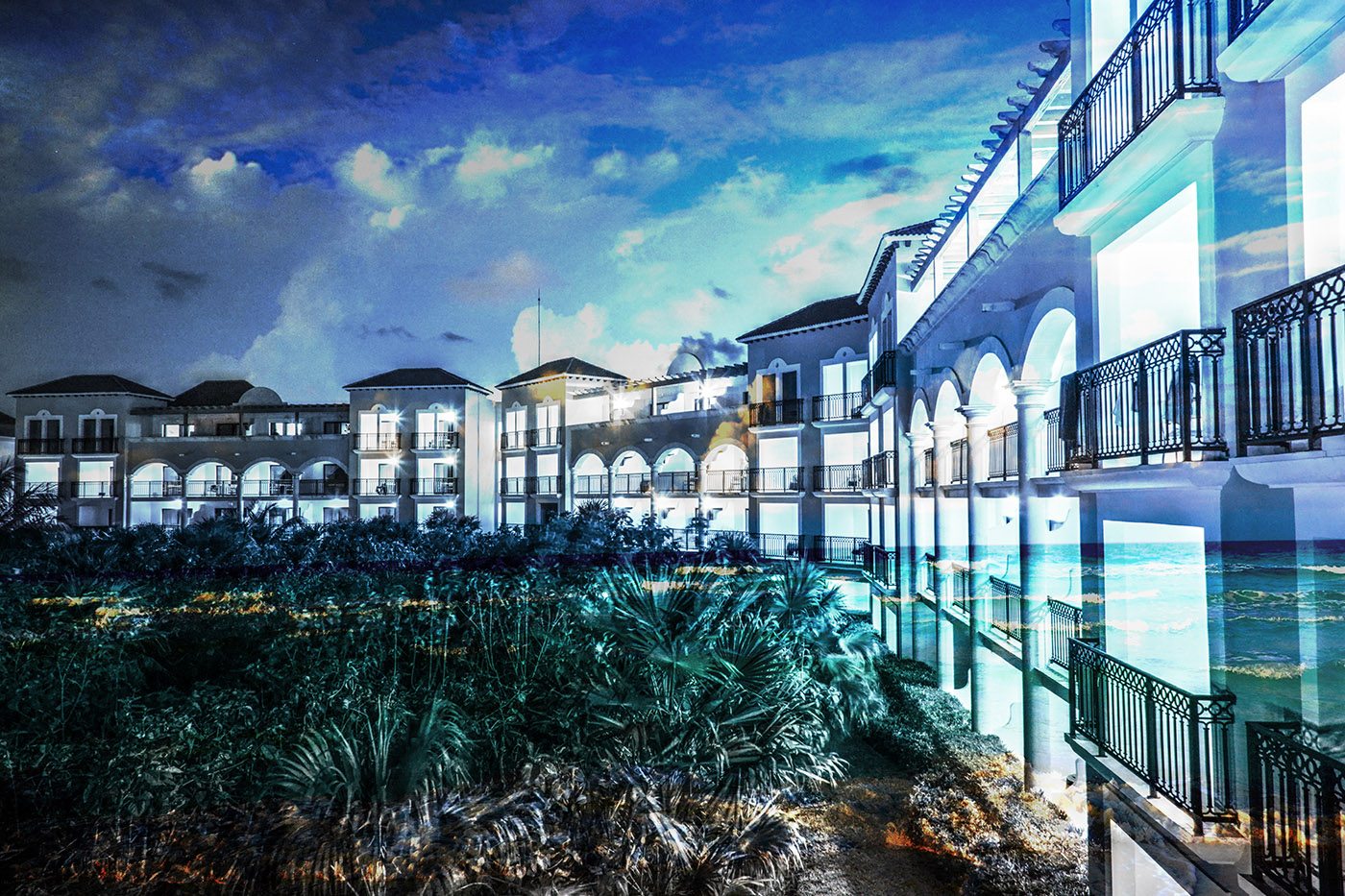 Hotel Resort Photo Montage 03 - Royalty-Free Stock Imagery