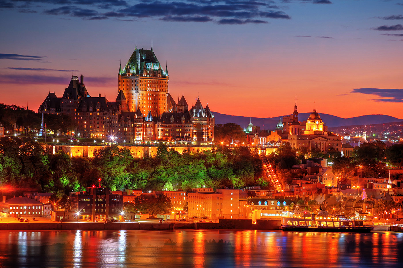 Quebec Frontenac Castle Montage 02 - Royalty-Free Stock Imagery
