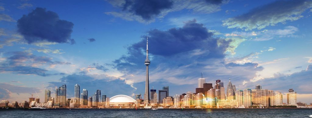 Toronto City Daytime Skyline - Royalty-Free Stock Imagery