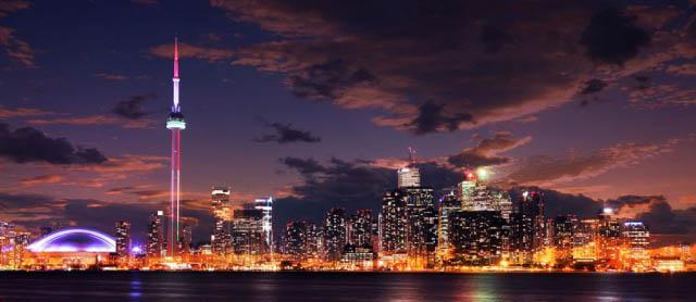 Toronto City Nighttime Skyline - Royalty-Free Stock Imagery