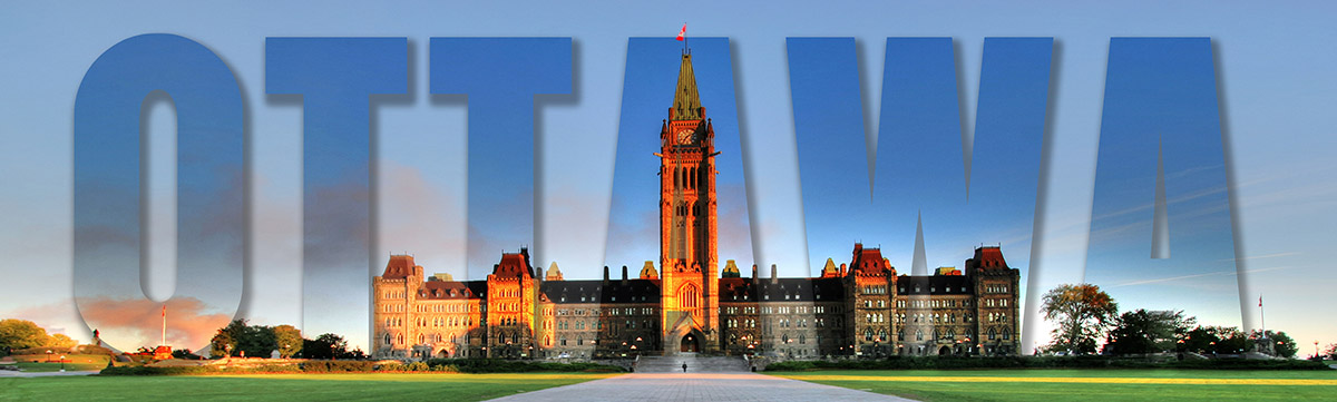 Federal Parliament with Ottawa Text 1 - Royalty-Free Stock Imagery