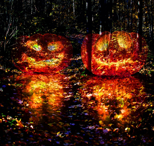 Halloween Scary Wood 3 - Royalty-Free Stock Imagery