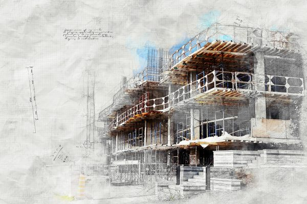 Construction Project Sketch Image
