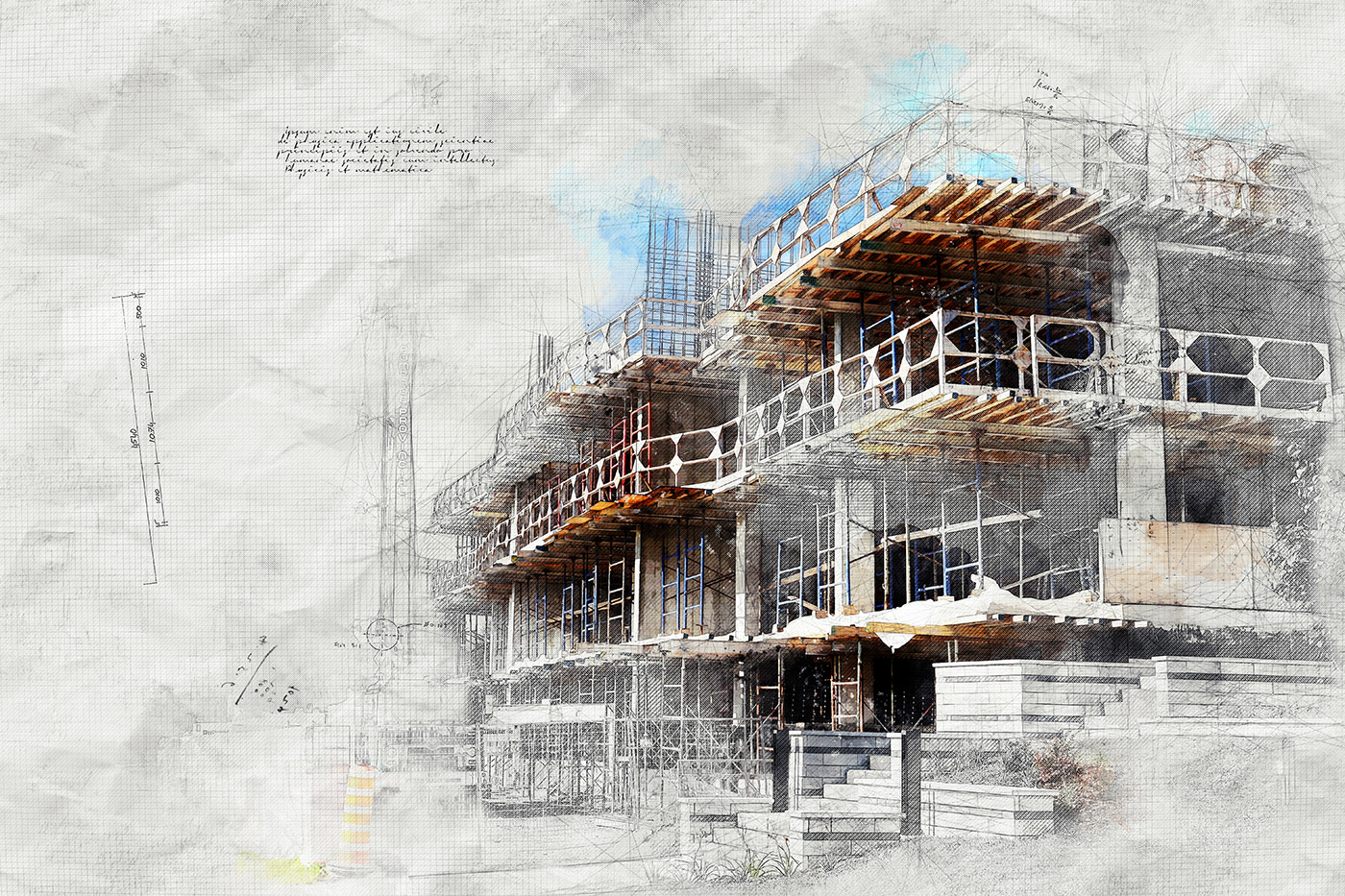 Construction Project Sketch Image - Royalty-Free Stock Imagery