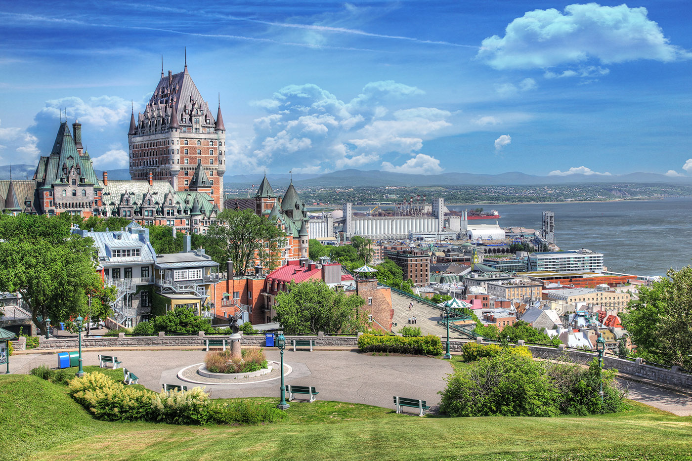 Old Quebec City District in Summer - Royalty-Free Stock Imagery