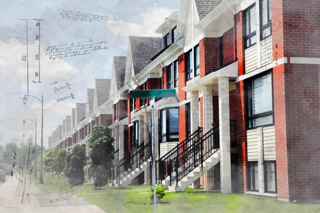 Urban Condos Sketch Image - Royalty-Free Stock Imagery