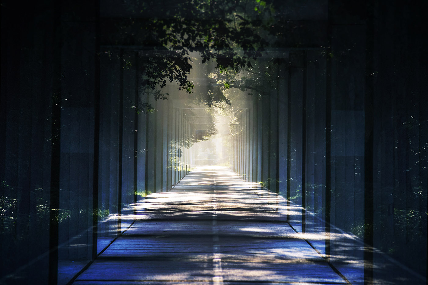 Light at the End Perspective 01 - Royalty-Free Stock Imagery