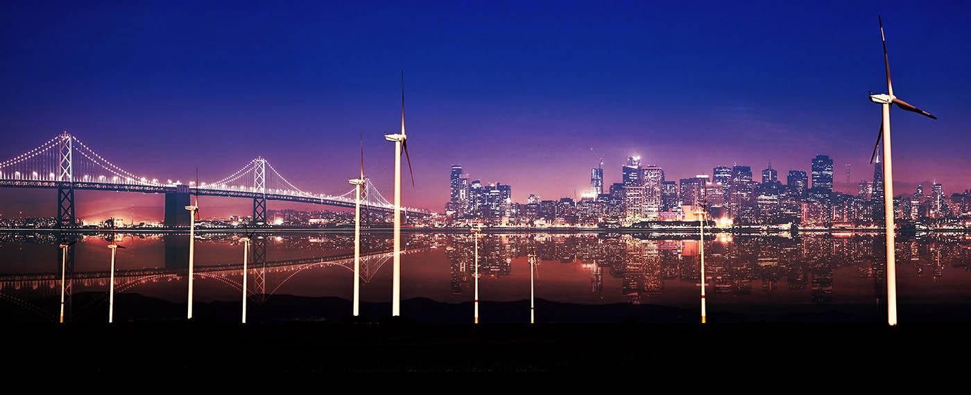 Urban Windmill 01 - Royalty-Free Stock Imagery