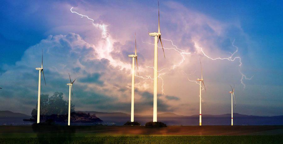 Windmill Energy Production 01- Stock Image