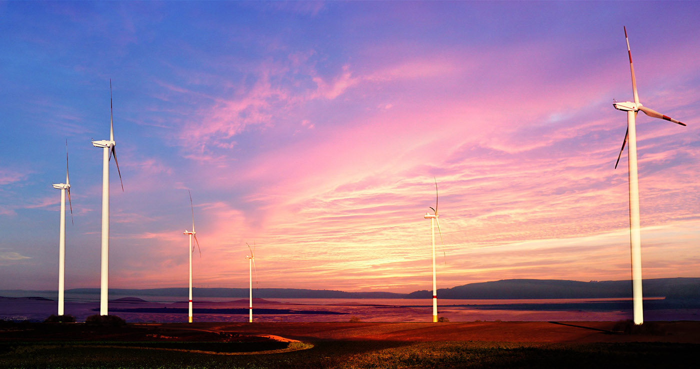 Windmills at Sunset 01 - Royalty-Free Stock Imagery