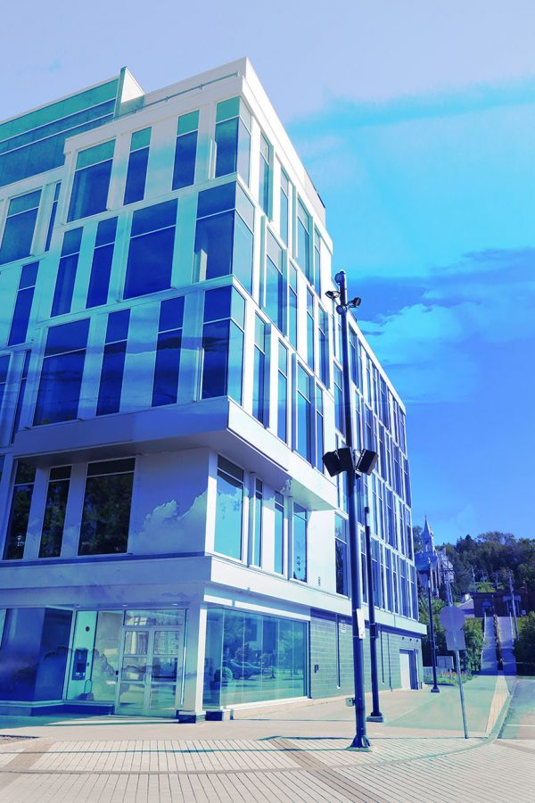 Street Corner Office Building 01