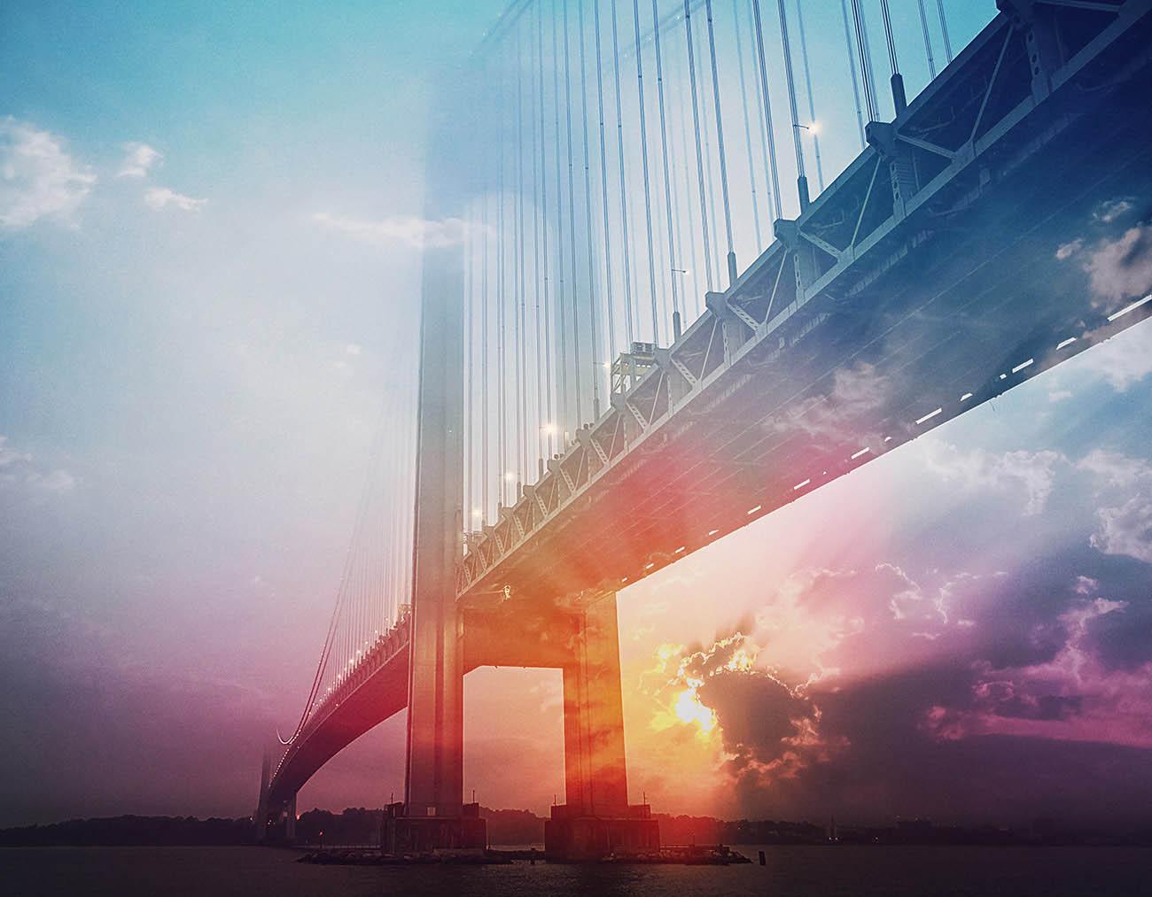 Surreal Suspension Bridge 01 - Royalty-Free Stock Imagery