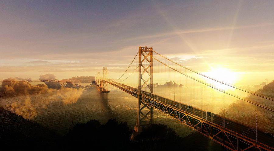 Surreal Suspension Bridge 02