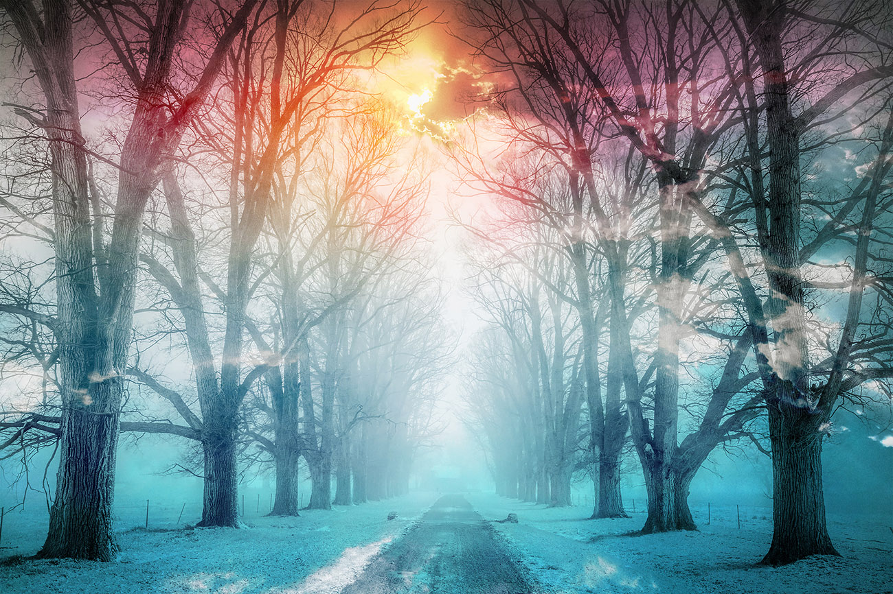 Wintery Road 02 - Royalty-Free Stock Imagery