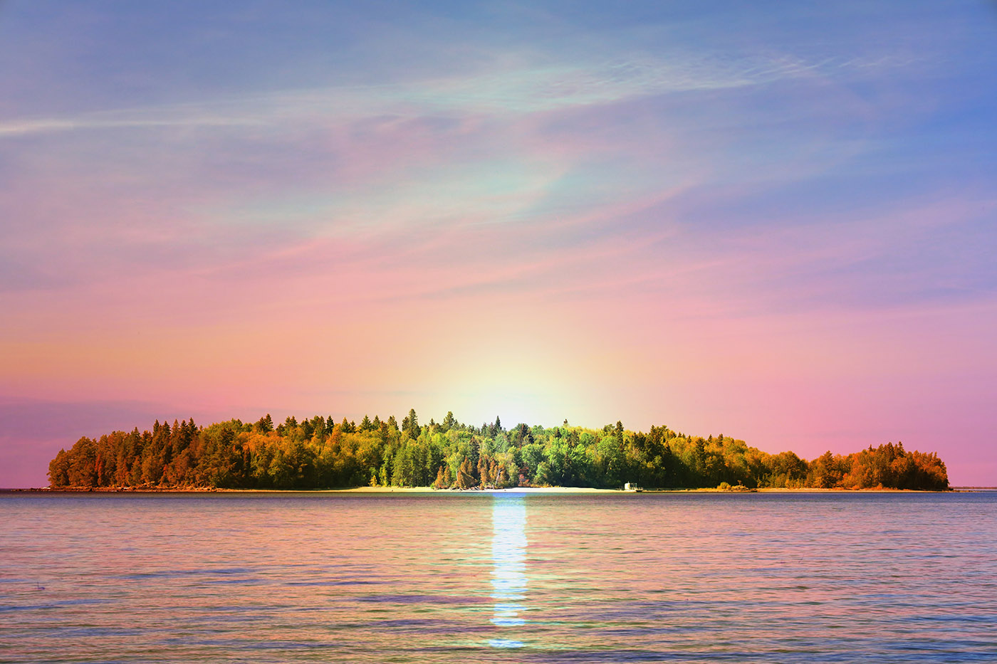 Peaceful Remote Island - Royalty-Free Stock Imagery