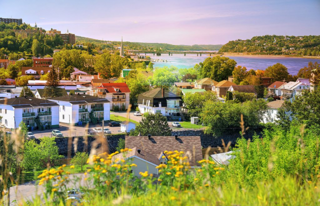 Saguenay City Neighborhood - Royalty-Free Stock Imagery