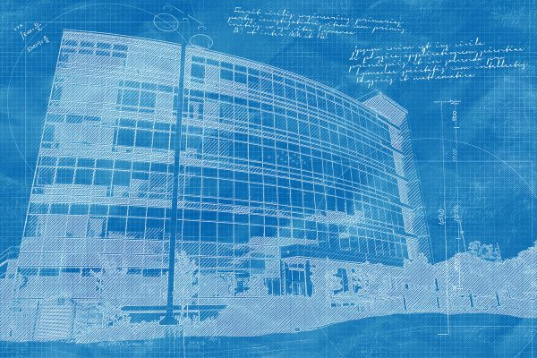 Headquarters Building Construction Blueprint Design