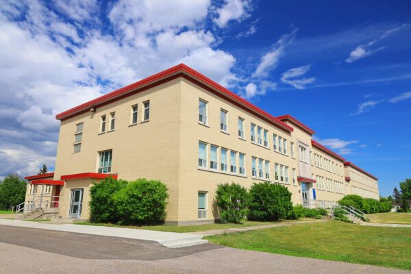 Modern Generic High School Facade